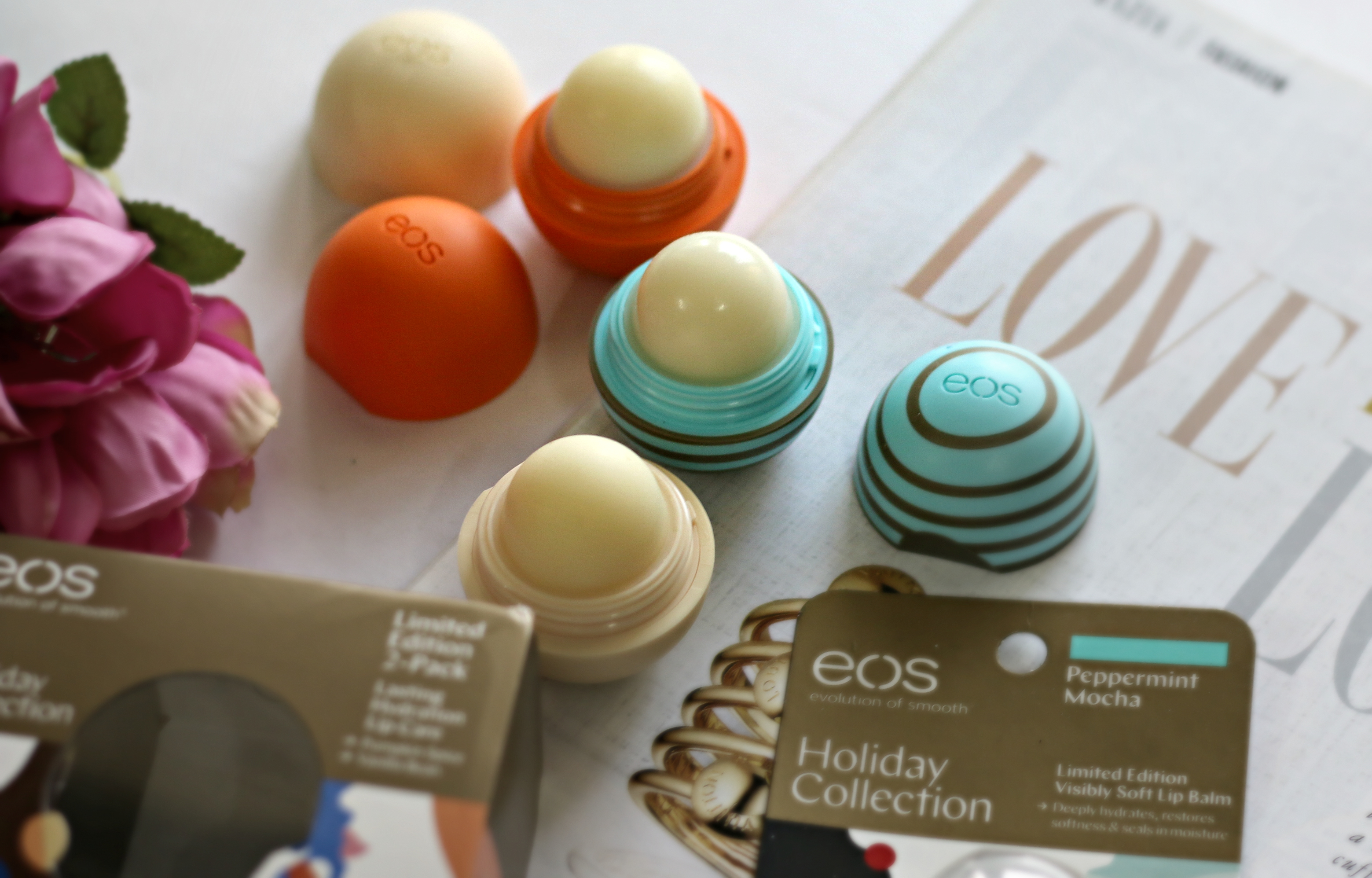 eos Evolution of Smooth – Holiday Collection Lip Balms