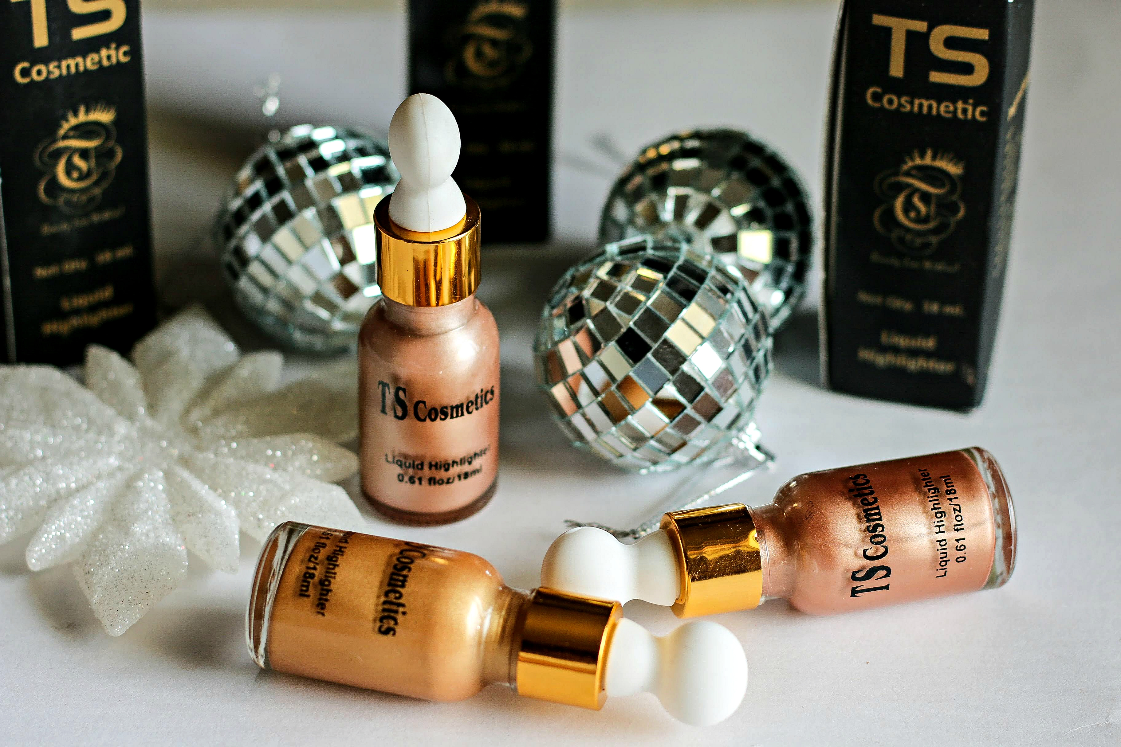Best Liquid Highlighters in India ? TS Cosmetics Liquid Highlighters | Review & Swatches