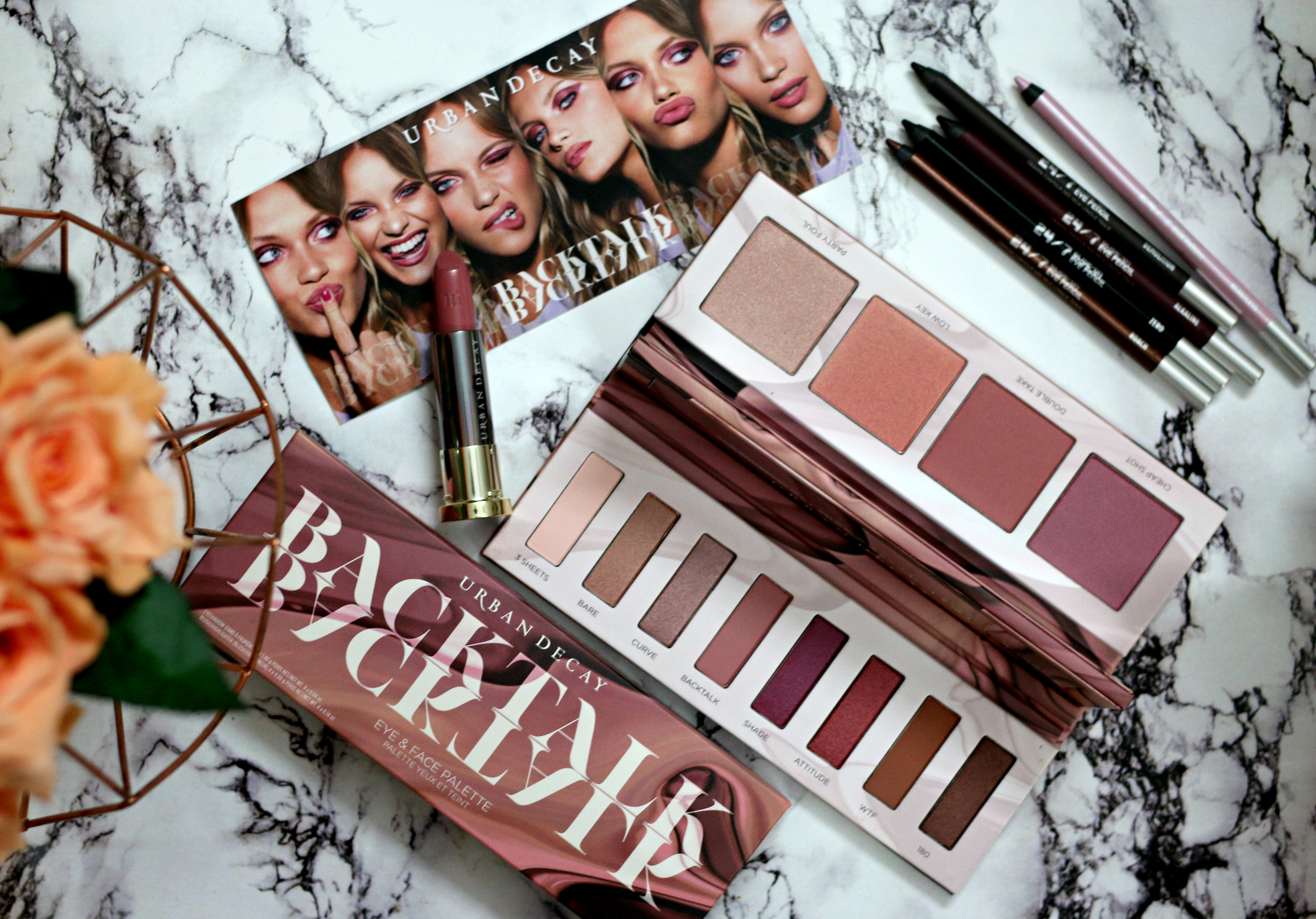 Urban Decay Backtalk Palette | Monochromatic Eyeshadow and Blush Palette | Review & Swatches