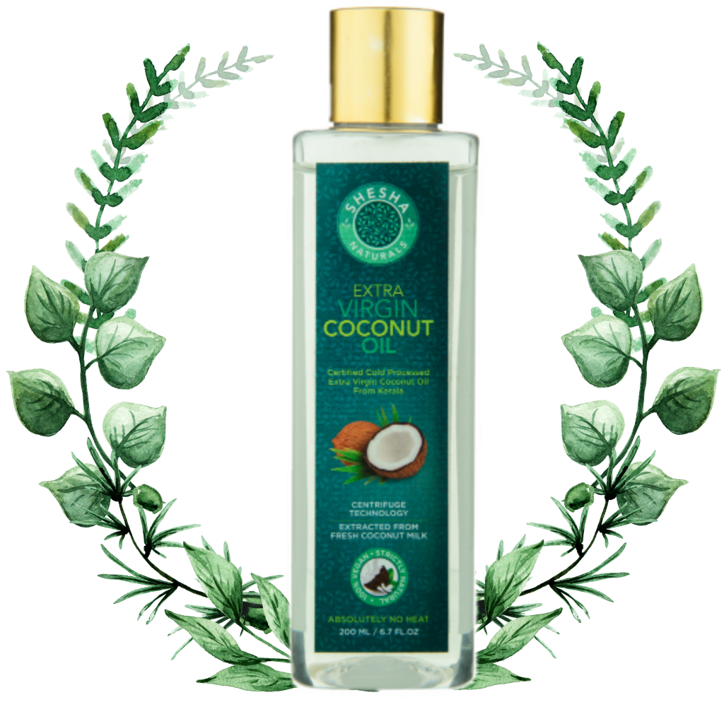 shesha naturals virgin coconut oil, india's best extra virgin coconut oil