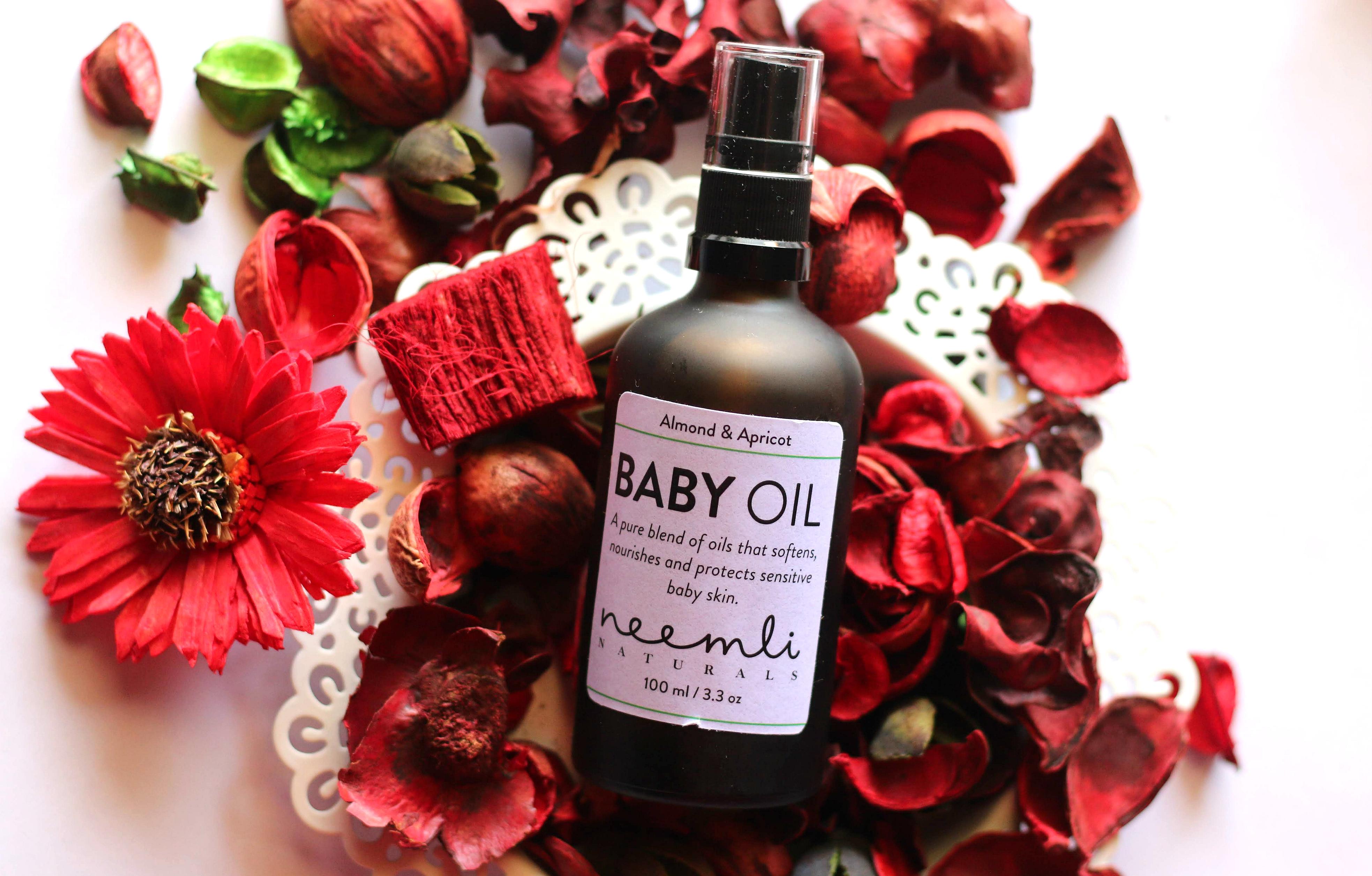 Neemli Naturals Sweet Almond & Apricot Baby Oil